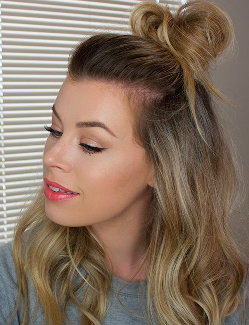 The-Messy-Half-Up-Bun-Goes-Anywhere!